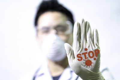 stop virus spread concept image
